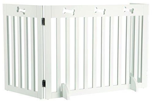 Trixie 39456 Hunde-Absperrgitter, MDF, 3-teilig, 82-124 × 61 cm, weiß