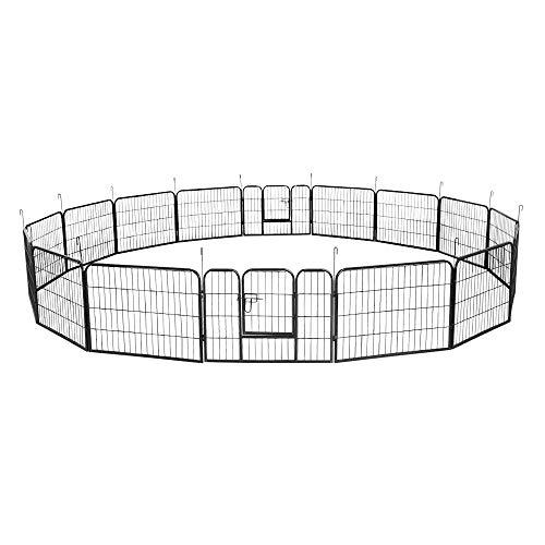 Aufun 16-TLG Welpenauslauf Freilaufgehege 80 x 60 cm - Tierlaufstall für...
