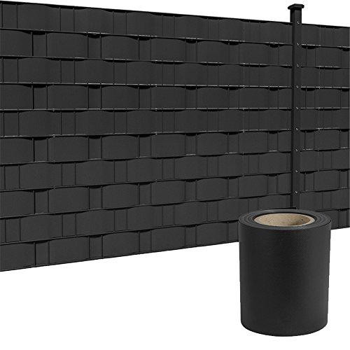 HENGMEI 35m x19cm Sichtschutzfolie PVC Sichtschutzstreifen mit Zaunfolie...