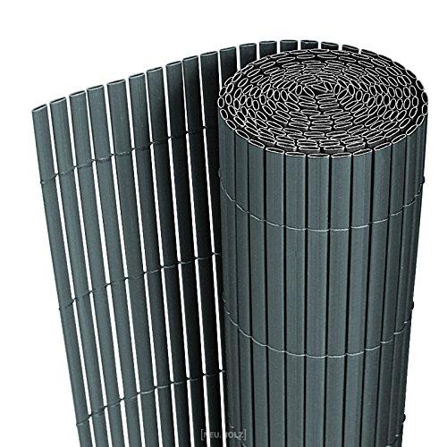 [neu.haus] PVC Sichtschutzmatte 150x300cm grau Sichtschutz Windschutz...
