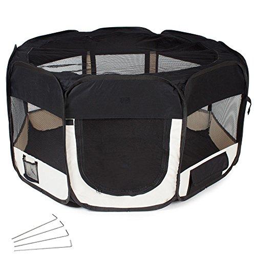 TecTake Welpenlaufstall Tierlaufstall für Kleintiere wie Hunde, Katzen -...