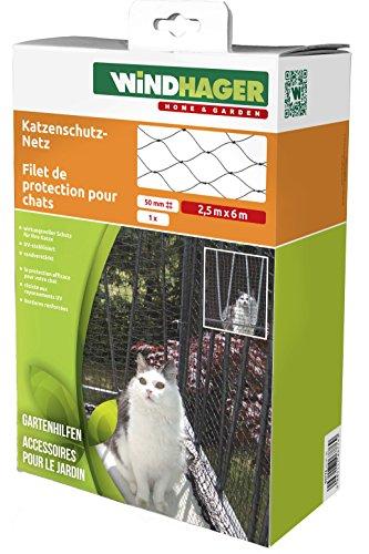 Windhager Katzenschutz-Netz Katzennetz für Balkon Terrasse und Fenster,...
