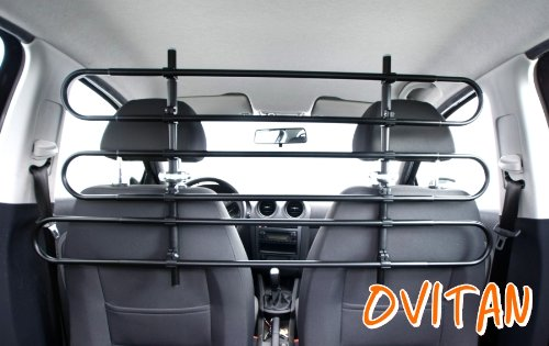 OVITAN Hundegitter fürs Auto 6 Streben universal zur Befestigung an den...