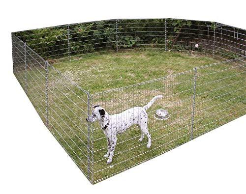 Teichschutzzaun Kleintiergehege 710 x 80 cm inkl. 6 Gitter 7 Pfosten