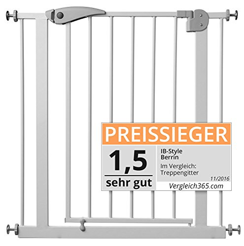 ib style Berrin Treppengitter 67-175 I Auto-Close I 90°Stop I...