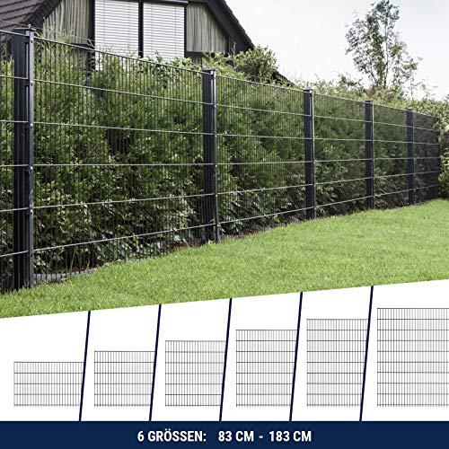 HORI Doppelstabmattenzaun I Zaun Komplettset I verschiedene Längen und...