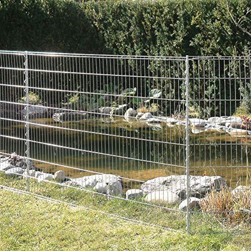 bellissa Teichschutzzaun Kleintiergehege 710 x 80 cm inkl. 6 Gitter 7...