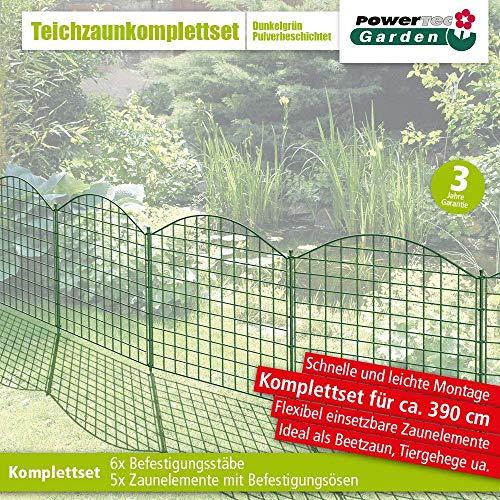PowerTec Garden Teichzaun Oberbogen Dunkelgrün