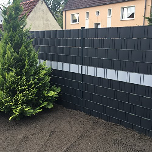 Profi Sichtschutz 50 Meter 1,1 mm PP Kunststoff anthrazit für Gittermatte...
