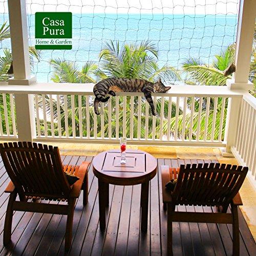 casa pura Katzennetz für Balkon ohne Bohren | mit Befestigungsseil |...