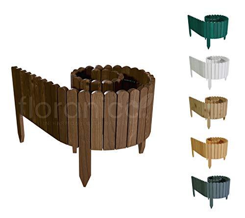 Floranica® Flexibler Beetzaun 203 cm (kürzbar) aus Holz | als Steckzaun...