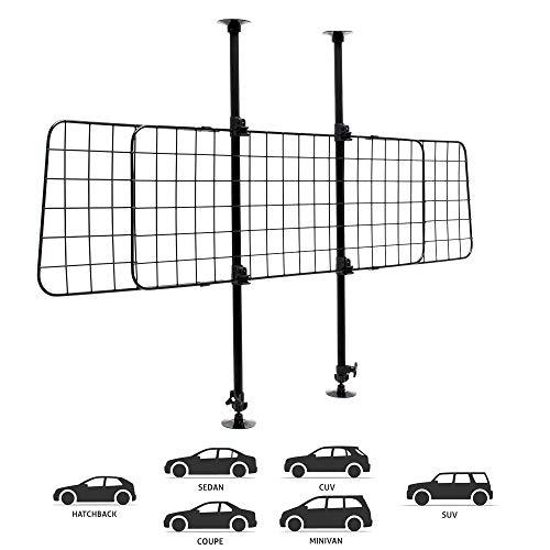 Wiltec Hundegitter fürs Auto mit stufenlos Verstellbarer Höhe & Breite,...