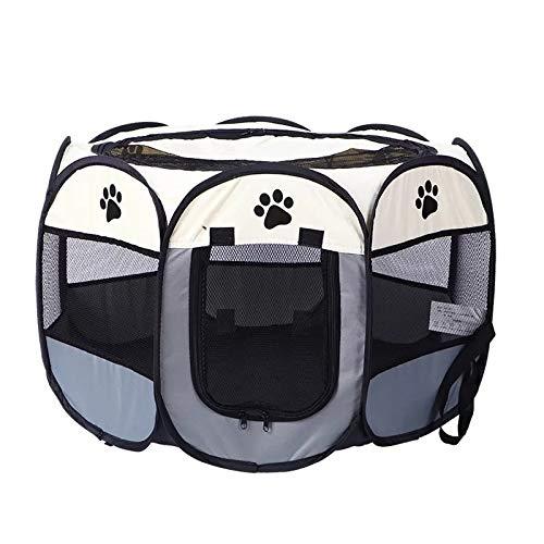 thematys Tier-Laufstall zusammenklappbar I Hunde-Auslauf für Reisen I...