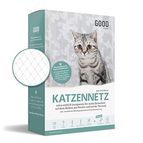Good-to-have Katzennetz für Balkon und Fenster | 8x3m transparent |...