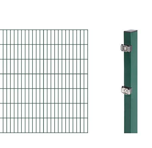 GAH-Alberts 644147 Doppelstabmattenzaun-Anbauset 6/5/6', grün, 2 m / 1400...
