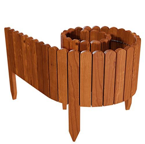 Floranica® Flexibeler Beetzaun 203 cm (kürzbar) aus Holz als Steckzaun...