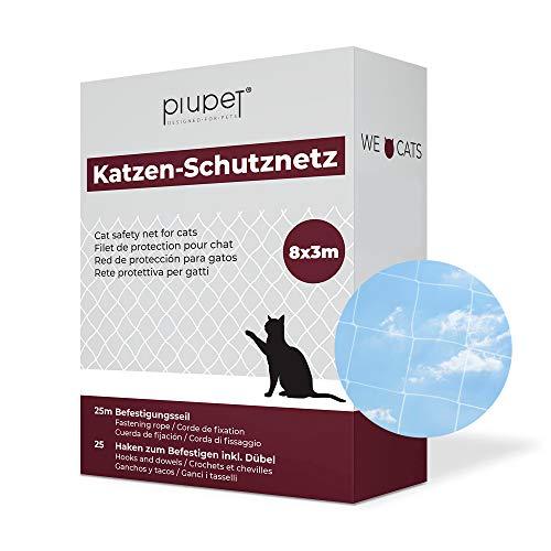 PiuPet® Katzennetz durchsichtig - Balkonnetz transparent ideal für Deine...