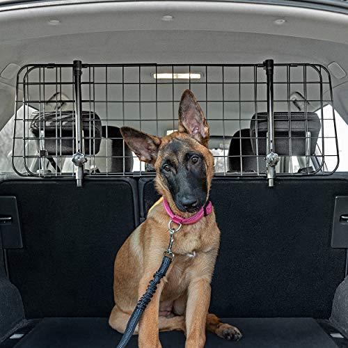 QualiTechna® Auto Hundegitter mit Sicherheitsgurt - universal, verstellbar...