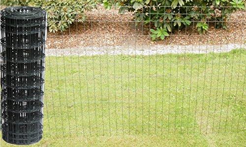 Schweißgitterzaun als Gartenzaun Wildzaun Gitterzaun in grau anthrazit 1,0...