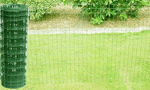 Schweißgitterzaun als Gartenzaun Wildzaun Gitterzaun in grün RAL 6005 1,0...