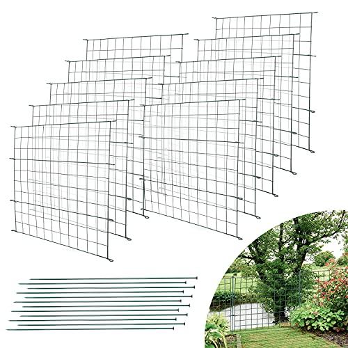 Einfeben Teichzaun Gartenzaun 22tlg Set Zaun Teich mit 10 Zaunelemente und...