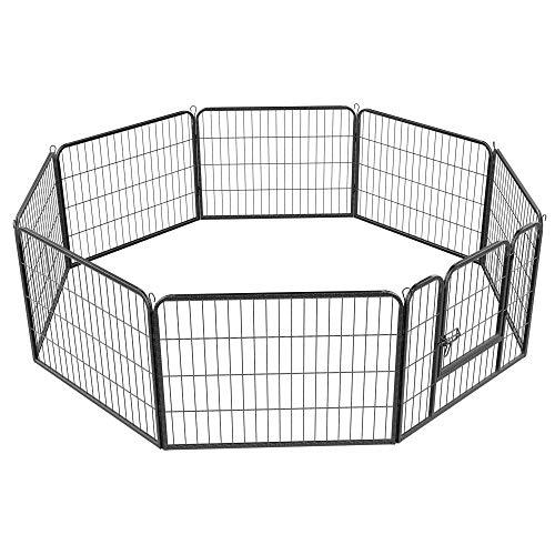 Yaheetech 8-TLG Freigehege Laufstall für Kleintiere 80 x 60cm Laufgitter...