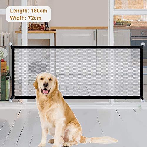 Tragbar Hunde Türschutzgitter, Faltbar Hundeschutzgitter, Absperrgitter...