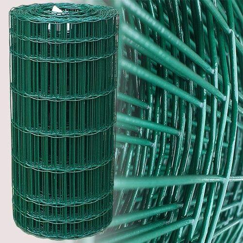 25 Meter Gartenzaun Grün Maschenweite 7,5 x 10 cm (80cm)