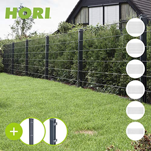 HORI® Doppelstabmattenzaun I Zaun Komplettset I verschiedene Längen und...