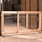 Hundezaun hundeabsperrgitter mobiler hundezaun - Flexibler gartenzaun ...