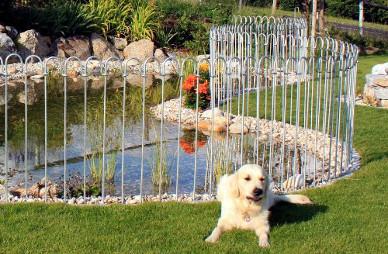 Teichzaun Steckzaun für Hunde